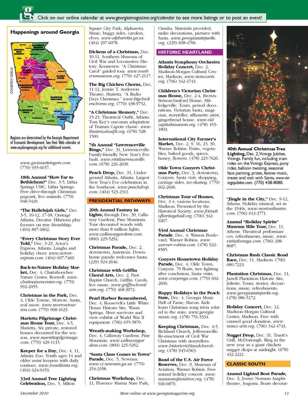 Georgia Magazine - December 2010