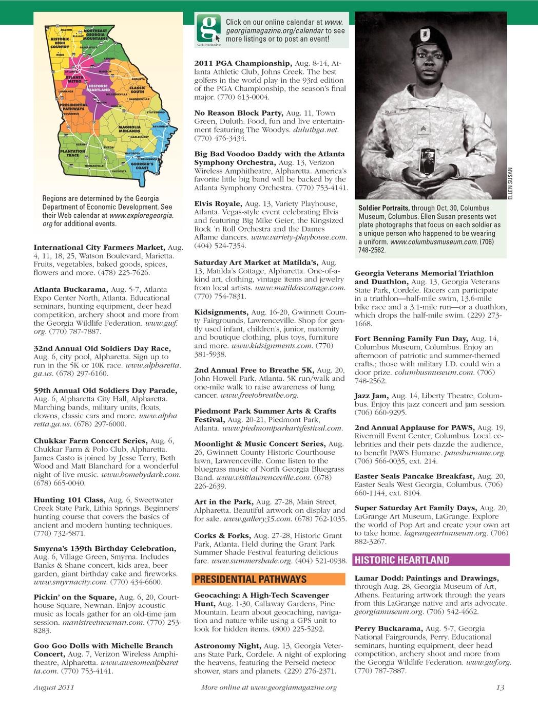 Georgia Magazine - August 2011