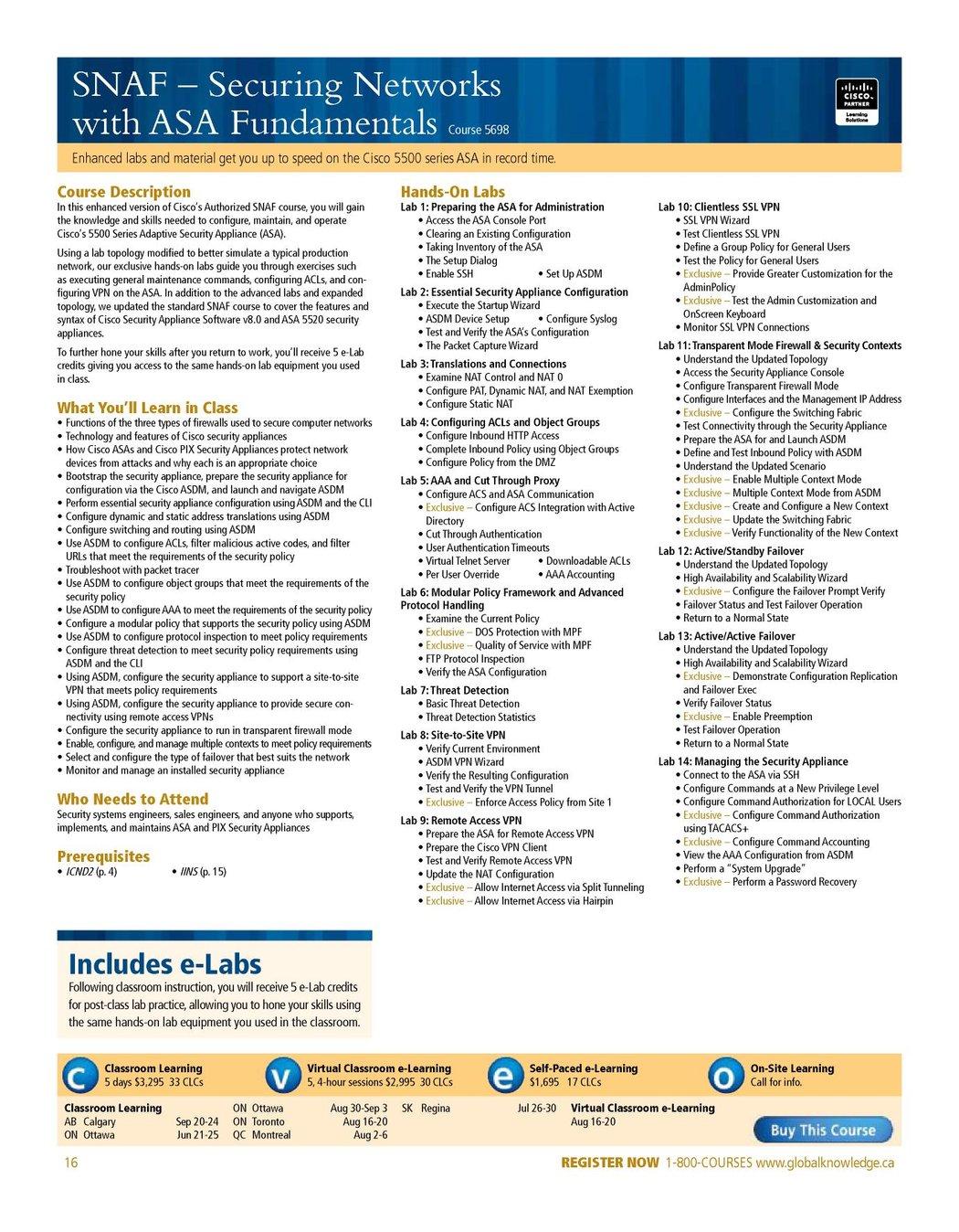 Cisco Training July - December 2010
