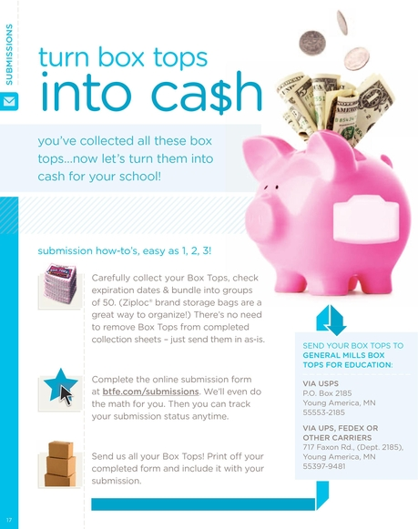Box Tops for Education - Turn Box Tops Into Cash