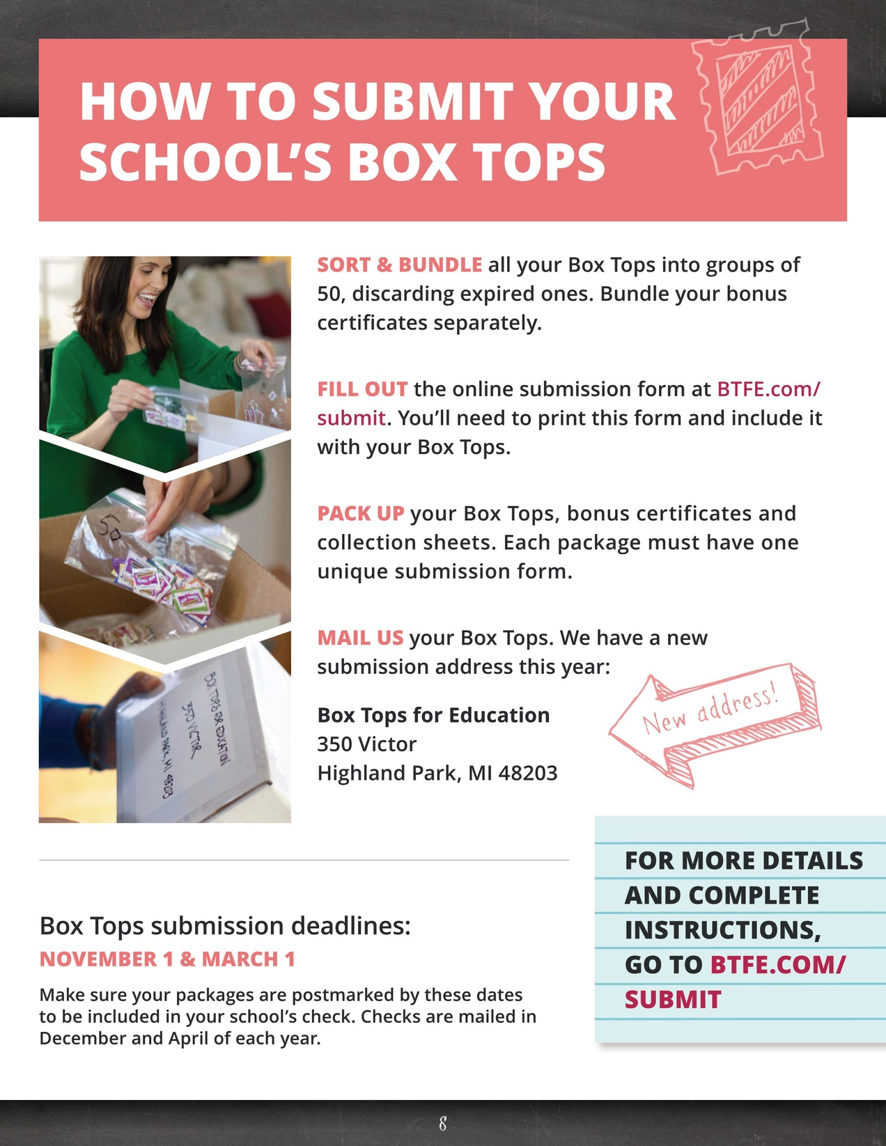 picture regarding Printable Box Tops Collection Sheets known as Box Tops for Education® 2013-2014 Coordinator Package