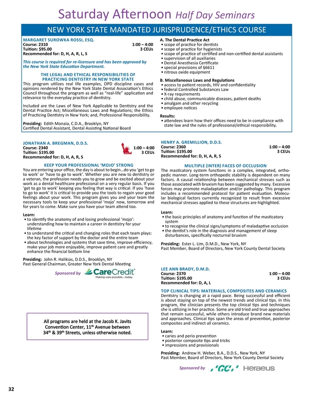 Greater New York Dental Meeting Program Guide 2017 [32   33]