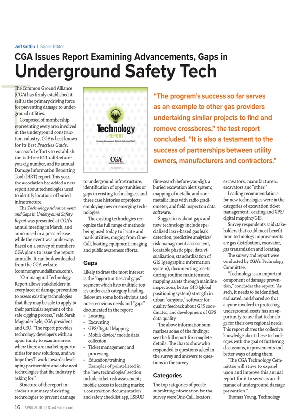 Underground Construction - April 2018