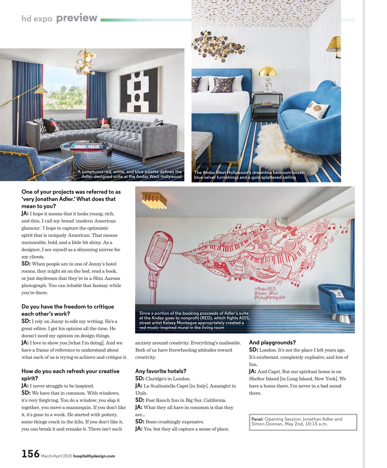 Hospitality Design - March/April 2018