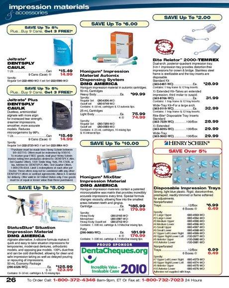 Dental Sales Flyer - August 2010