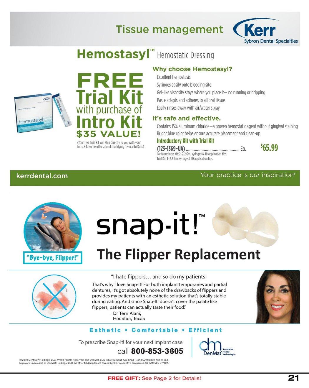 Dental Sales Flyer - September 2010