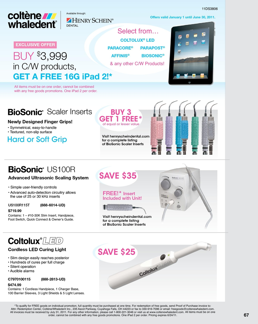 Dental Sales Flyer June 2011 Leds In Parallel Cannot Be Placed Until