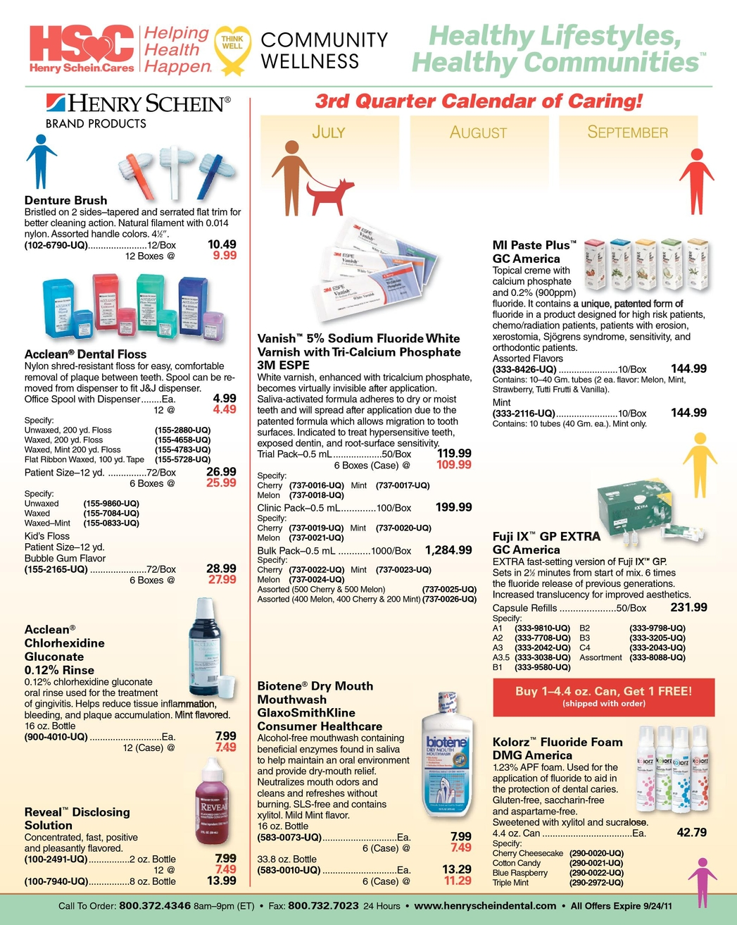 Dental Sales Flyer - July 2011