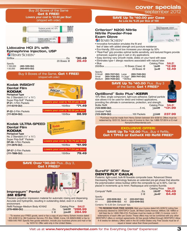 Dental Sales Flyer - September 2012