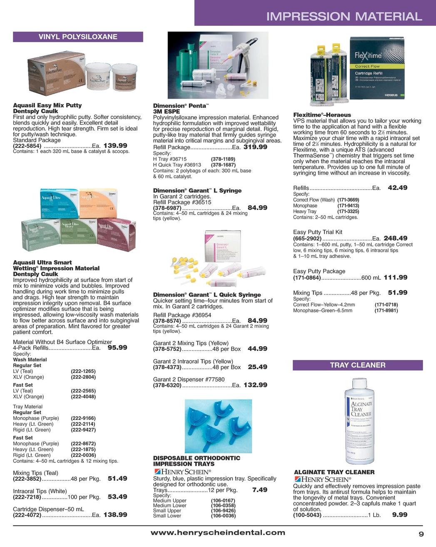 Orthodontic Specialty Catalog - May 2011