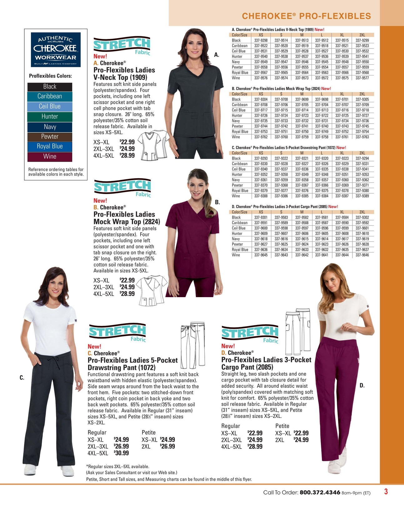 4e860979a2d Uniform Source - Fall/Winter 2013 - (Page 3). CHEROKEE ® PRO-FLEXIBLES  Proflexibles ...