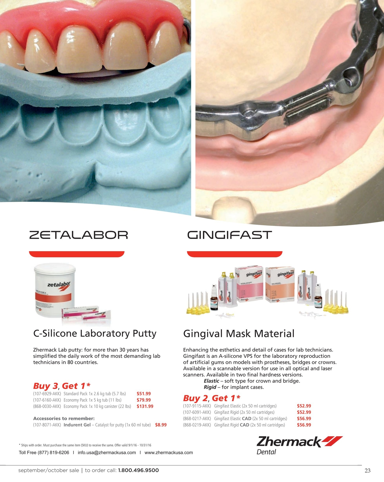 Zahn Dental Sales - September/October 2016