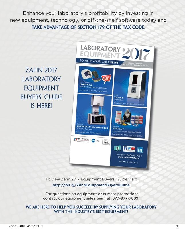 Zahn Dental Sales - November/December 2017