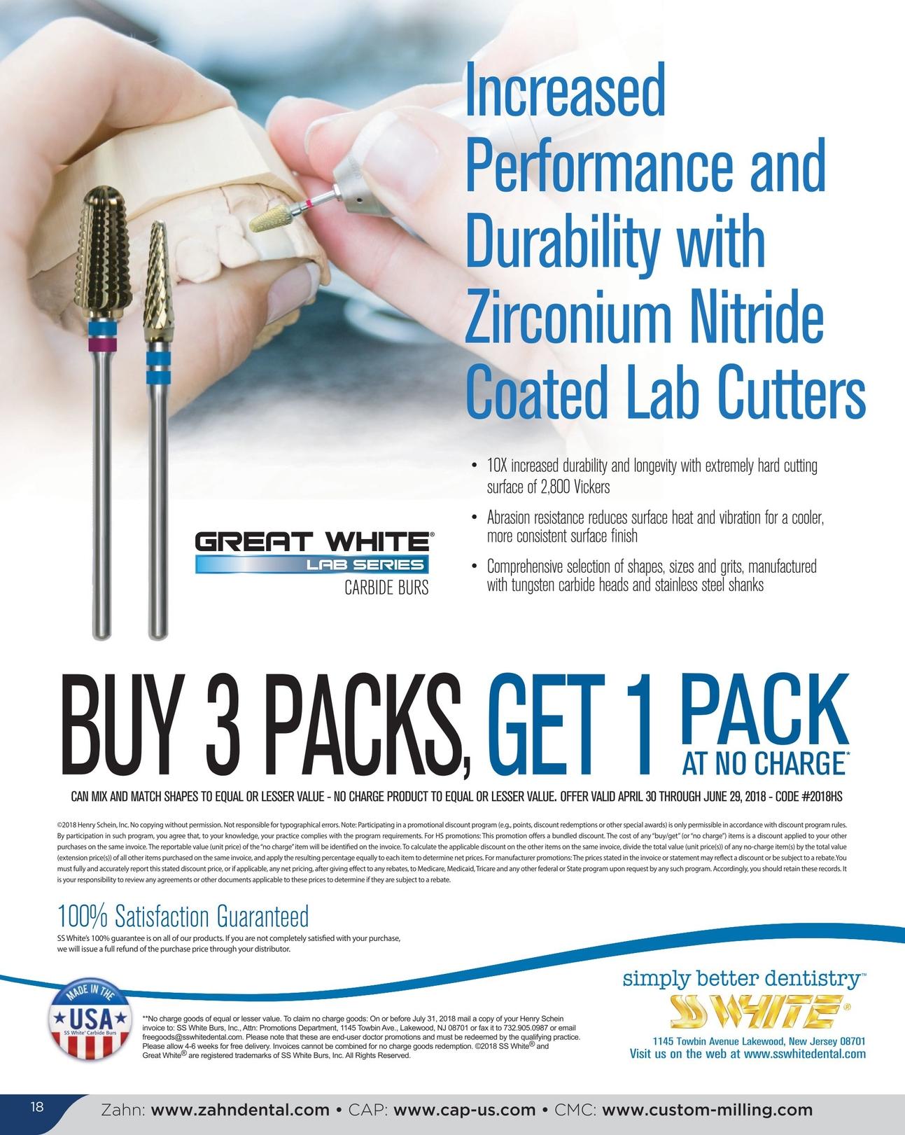 Zahn Dental Sales - May/June 2018