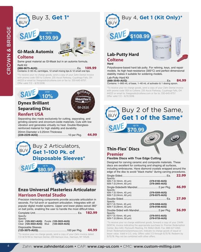 Zahn Dental Sales - July/August 2018