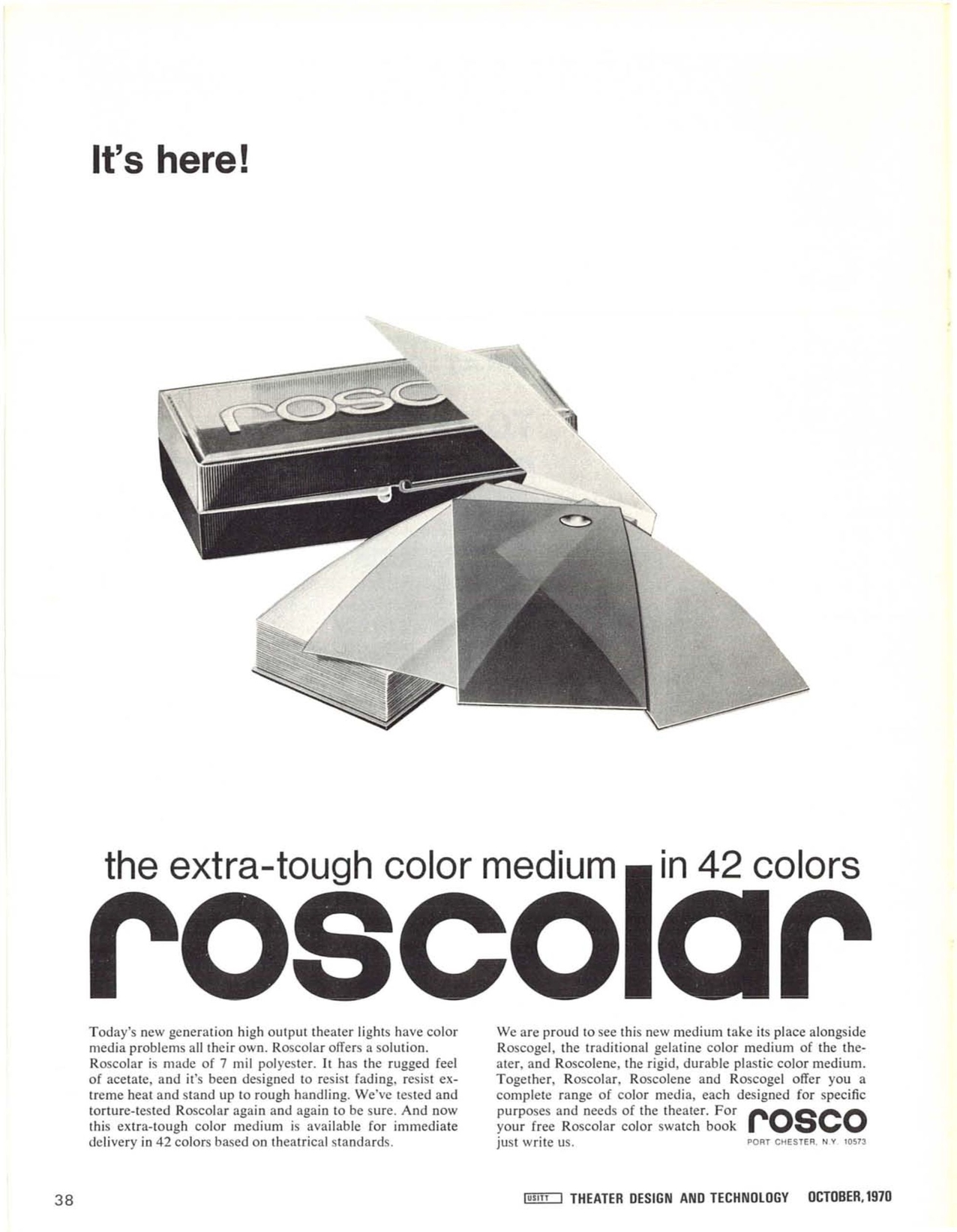 Theatre Design & Technology - Oct 1970