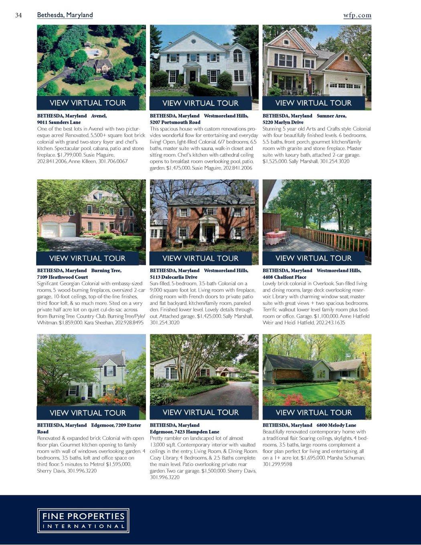 Washington Fine Properties Portfolio - Fall/Winter 2010