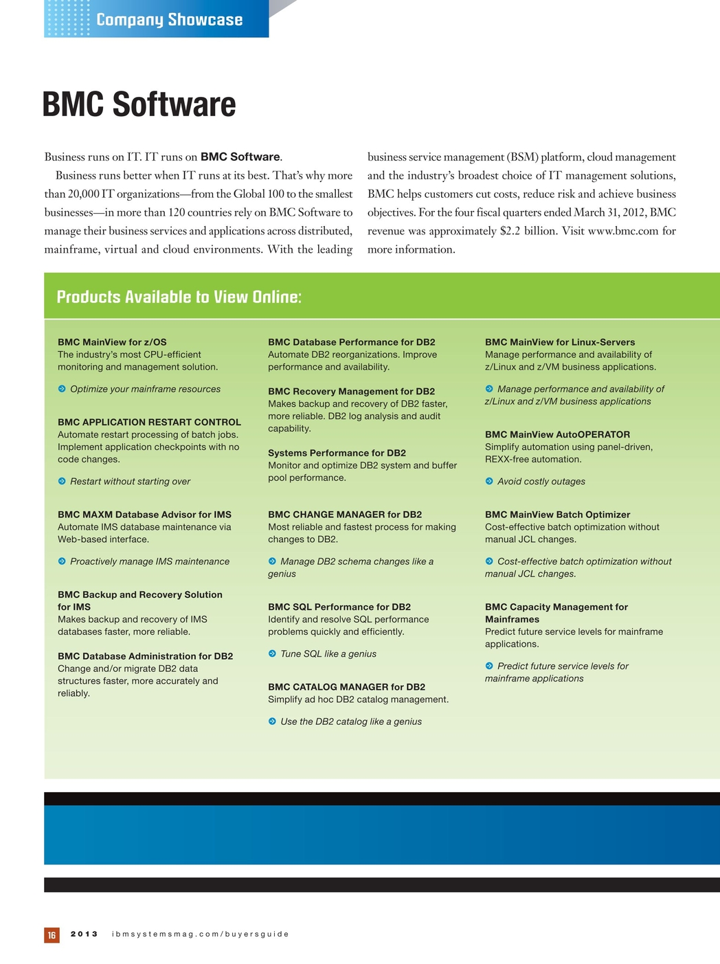 IBM Systems Magazine, Mainframe Edition - 2013 Buyer's Guide