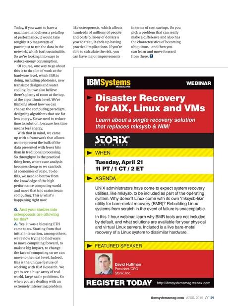 IBM Systems Magazine, Power Systems - April 2015