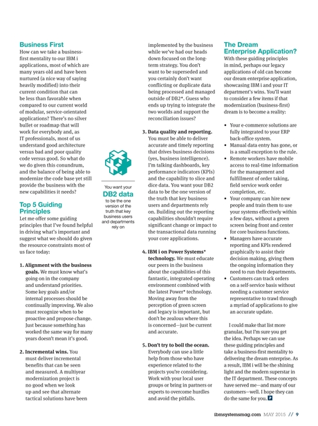 IBM Systems Magazine, Power Systems - May 2015