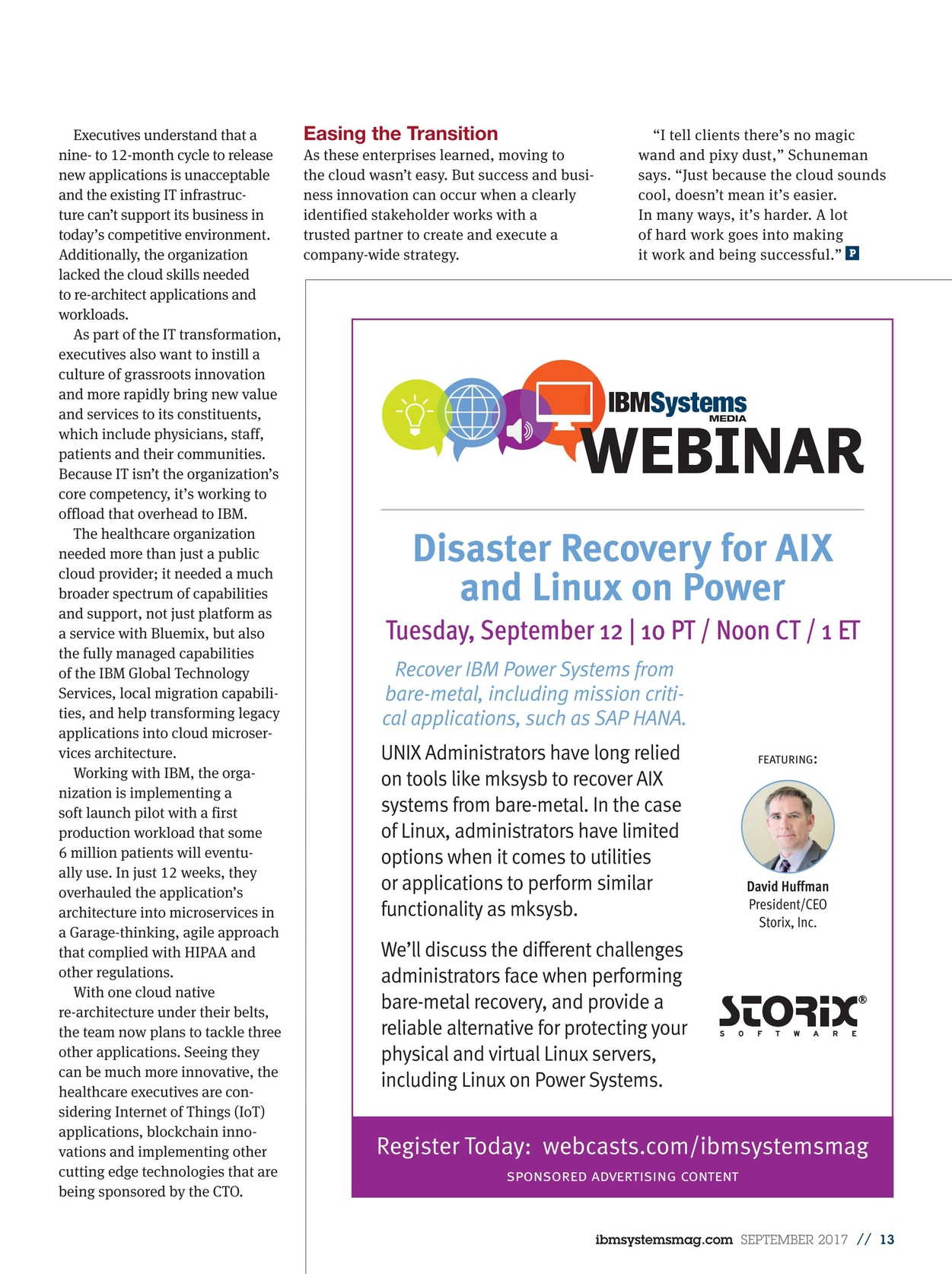 IBM Systems Magazine, Power Systems - September 2017
