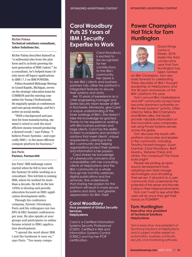 Ibm Systems Magazine Power Systems May 2018