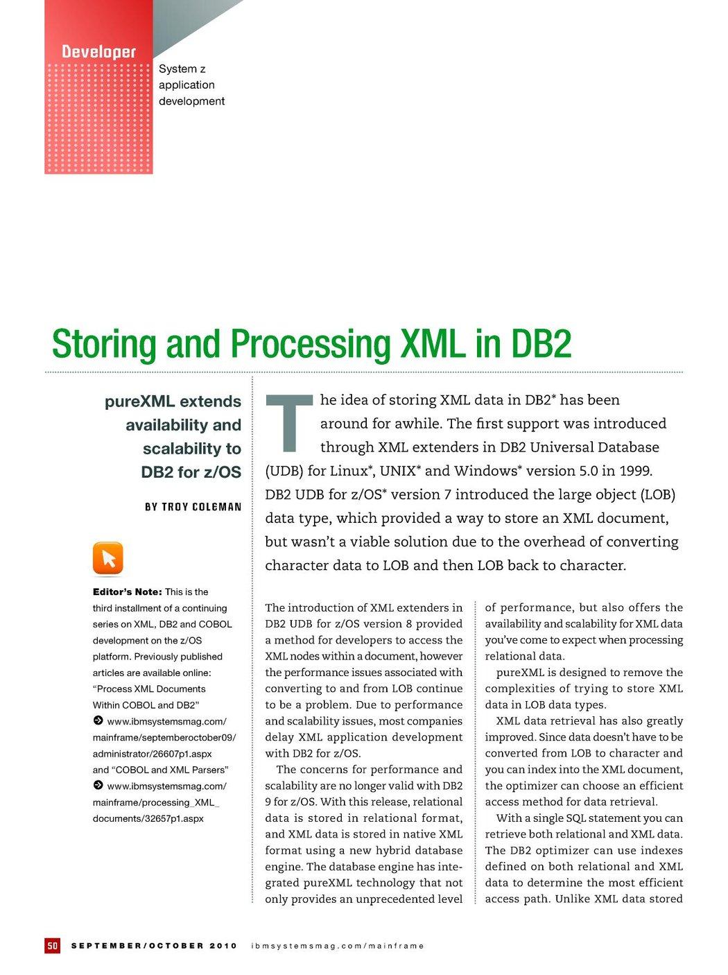 IBM Systems Magazine, Mainframe - September/October 2010