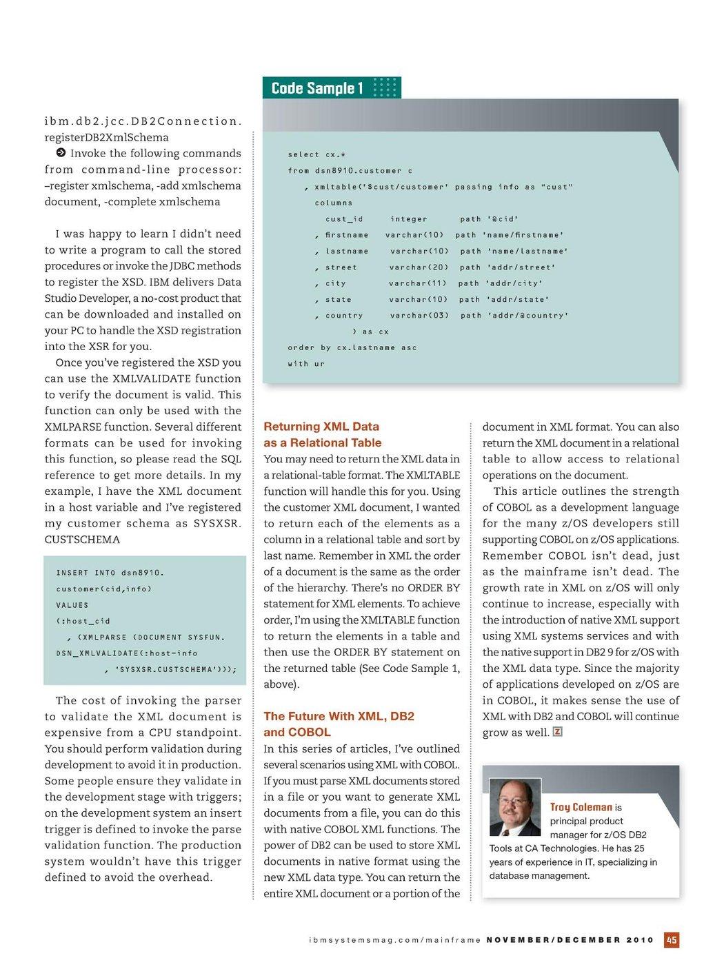 IBM Systems Magazine, Mainframe Edition - November/December 2010