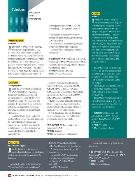 IBM Systems Magazine, Mainframe Edition - November/December 2012