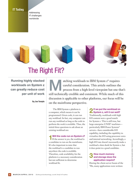 IBM Systems Magazine, Mainframe Edition - March/April 2013
