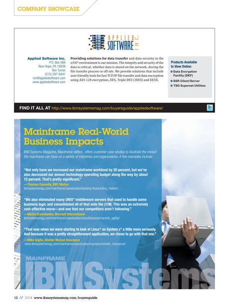 IBM Systems Magazine, Mainframe Edition - 2014 Mainframe