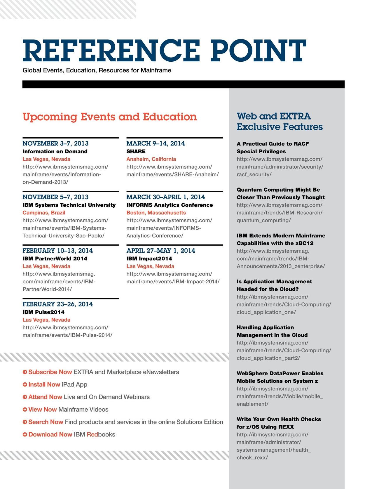 IBM Systems Magazine, Mainframe - November/December 2013