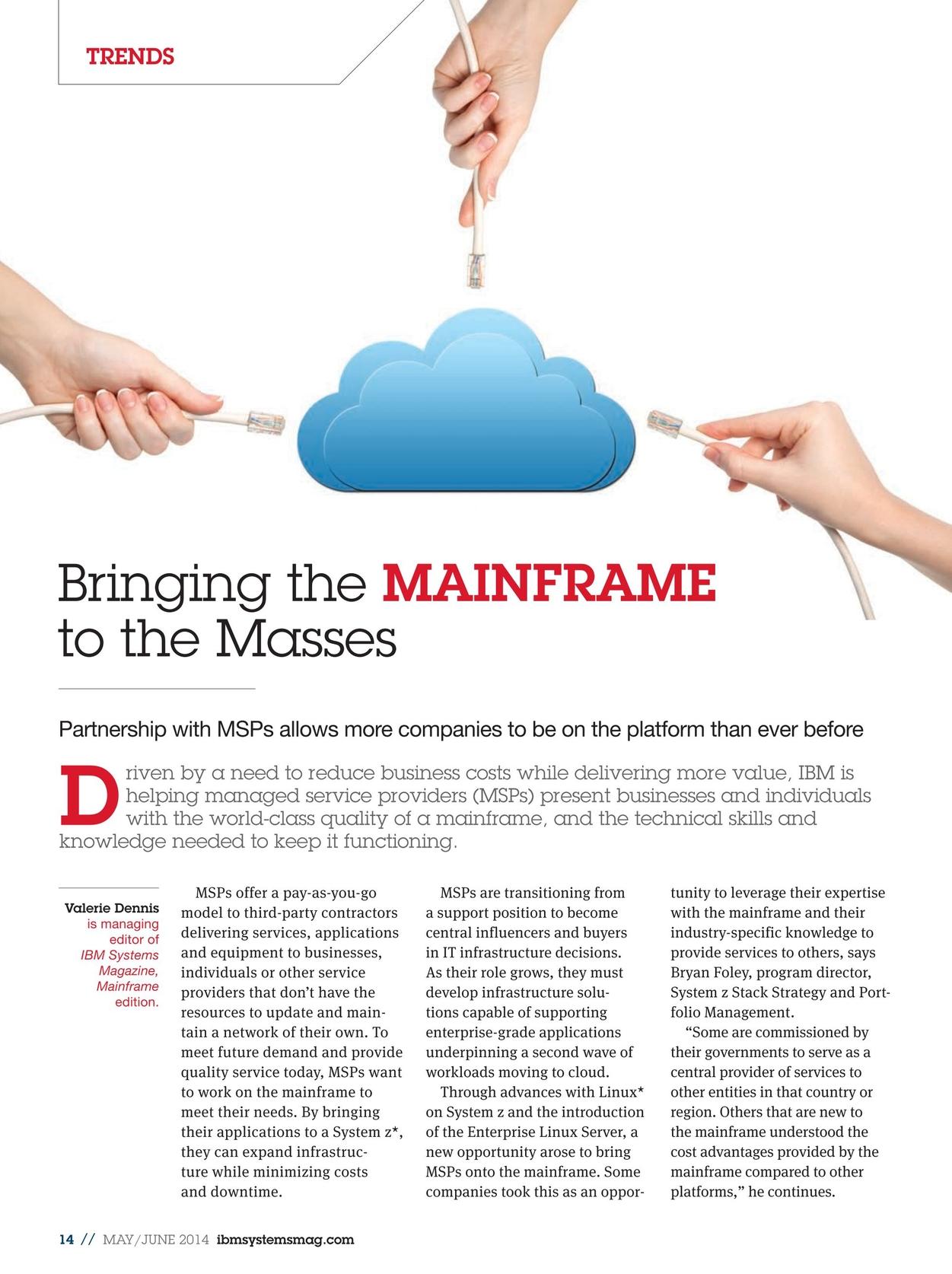 IBM Systems Magazine, Mainframe - May/June 2014