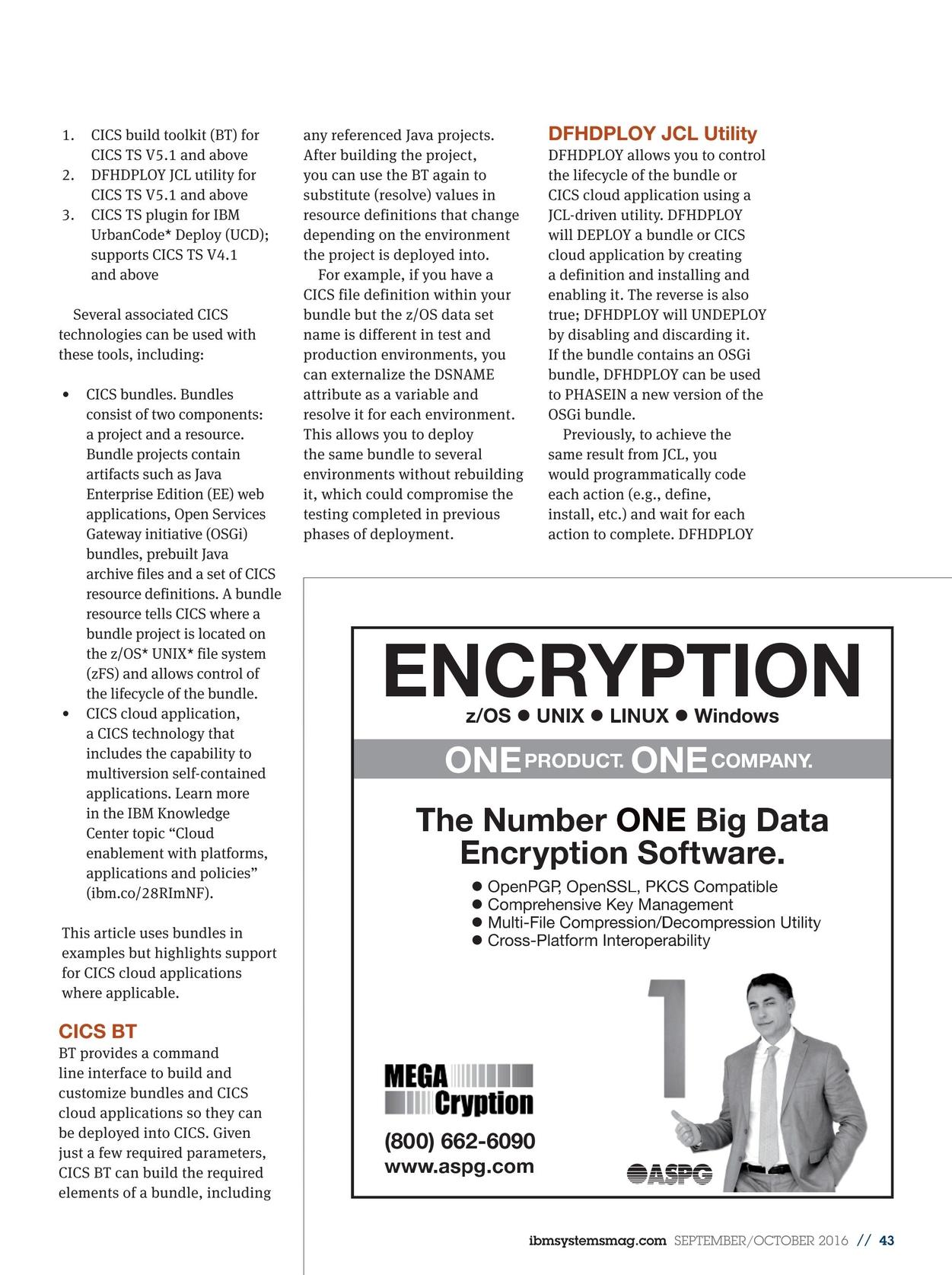 IBM Systems Magazine, Mainframe - September/October 2016