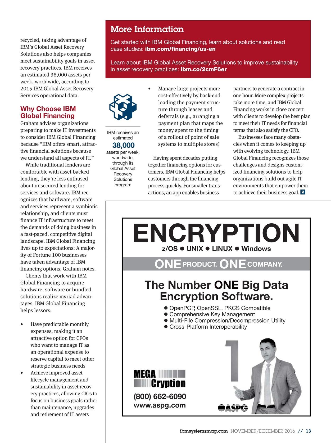IBM Systems Magazine, Mainframe - November/December 2016
