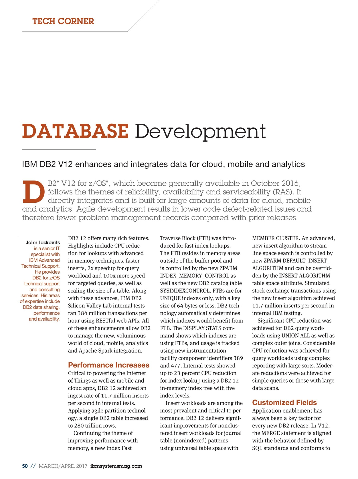 IBM Systems Magazine, Mainframe - March/April 2017