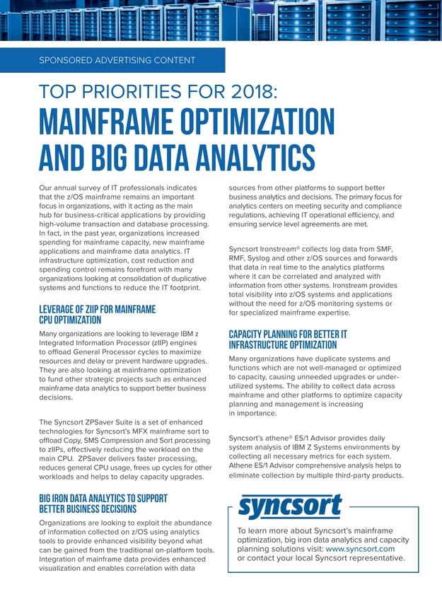 IBM Systems Magazine, Mainframe - January/February 2018