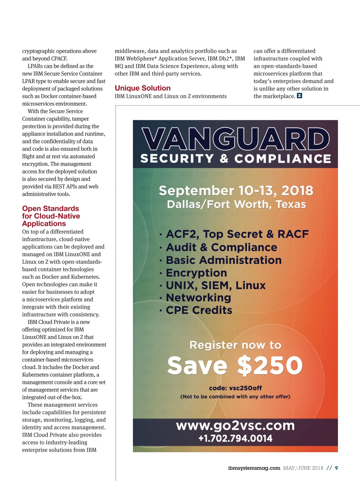 IBM Systems Magazine, Mainframe - May/June 2018