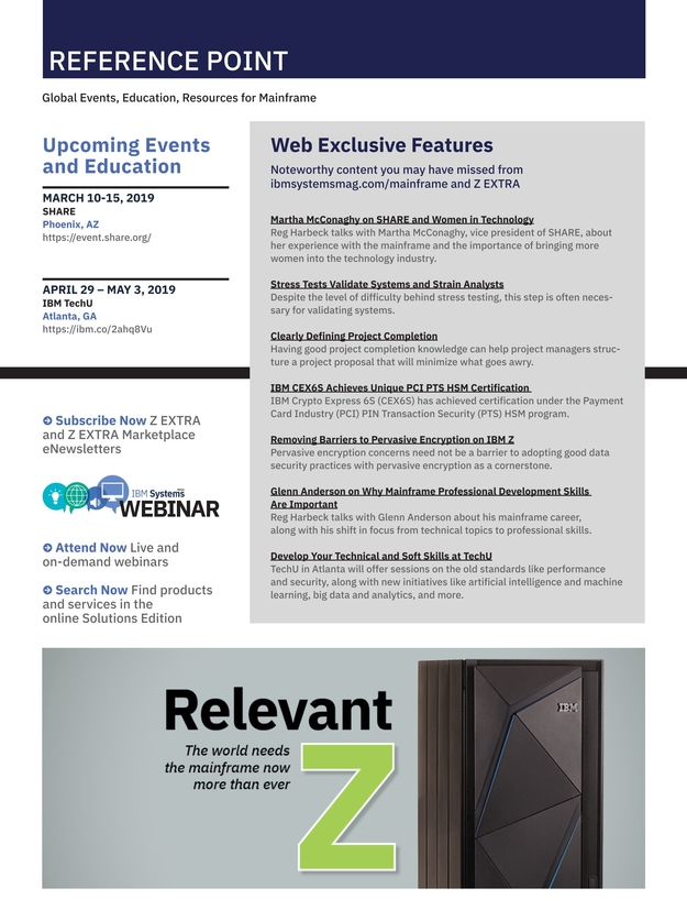 Ibm Systems Magazine Mainframe March April 2019