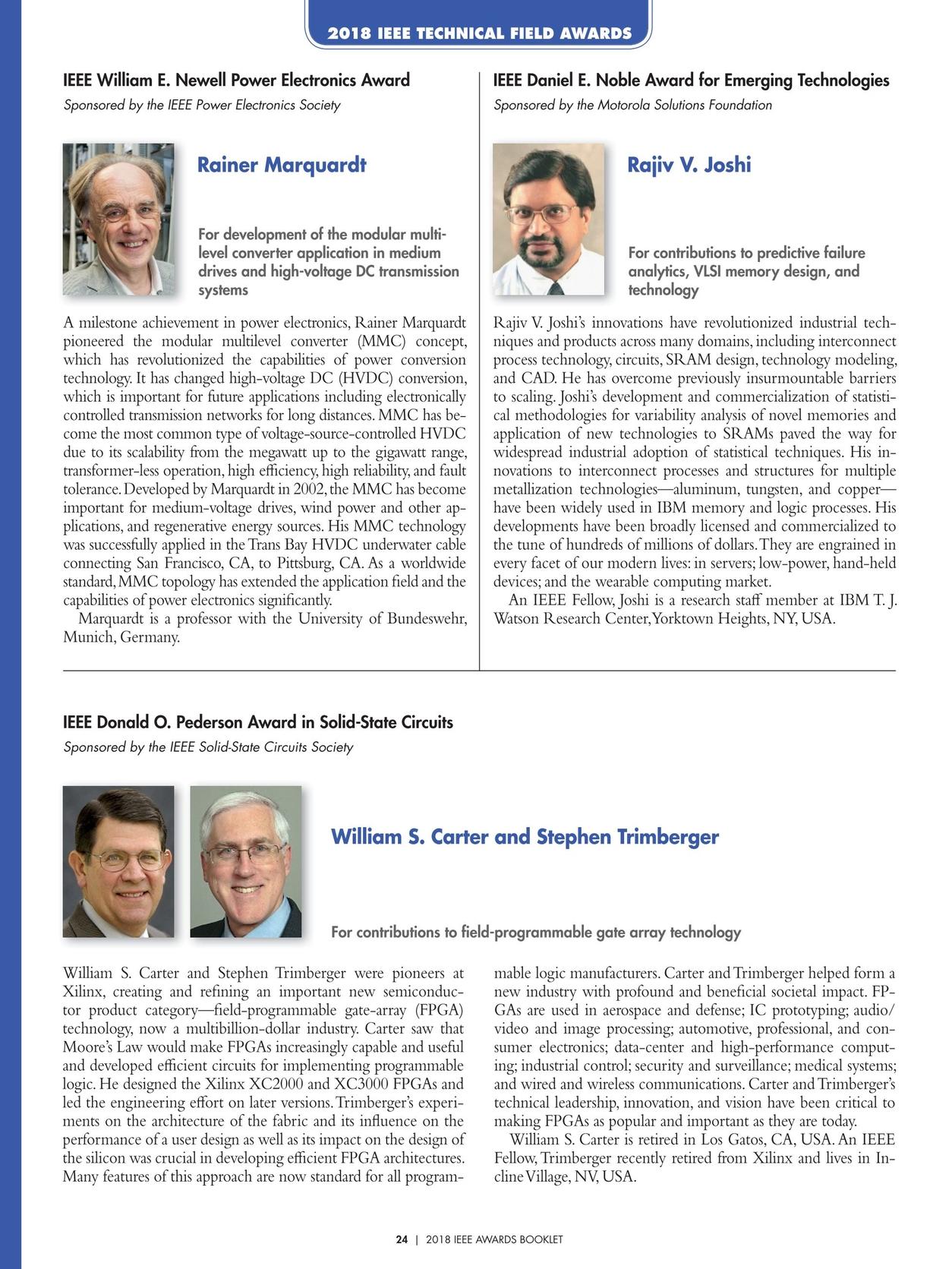 IEEE Awards Booklet - 2018