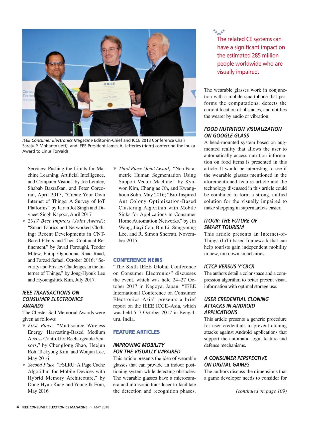 IEEE Consumer Electronics Magazine - May 2018