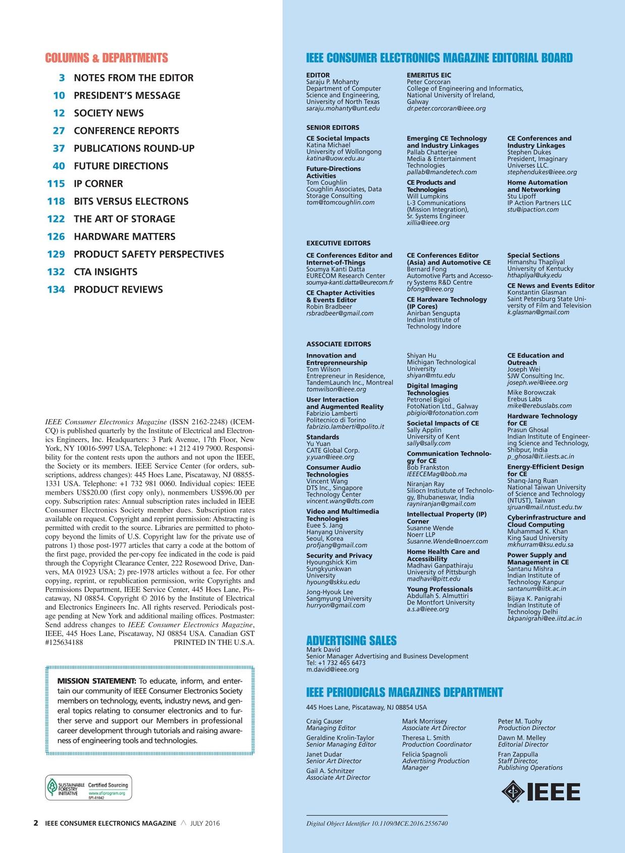 IEEE Consumer Electronics Magazine - July 2016