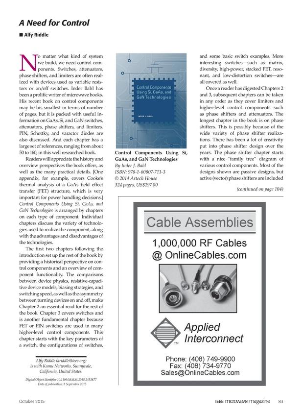 IEEE Microwave Magazine - October 2015