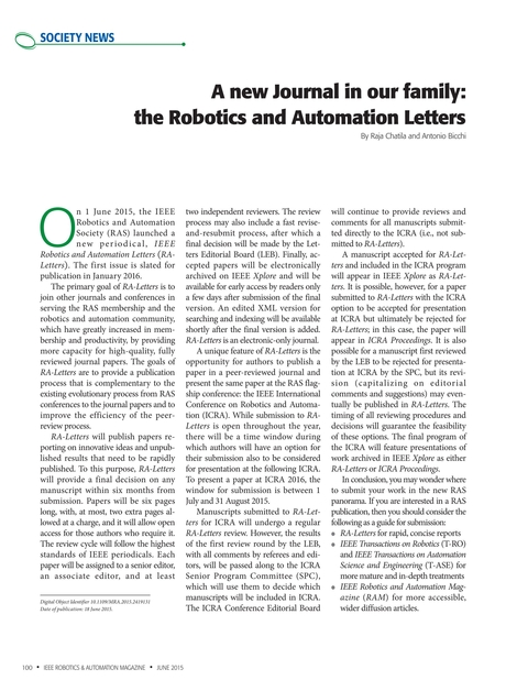 Ieee Robotics Automation Magazine June 2015