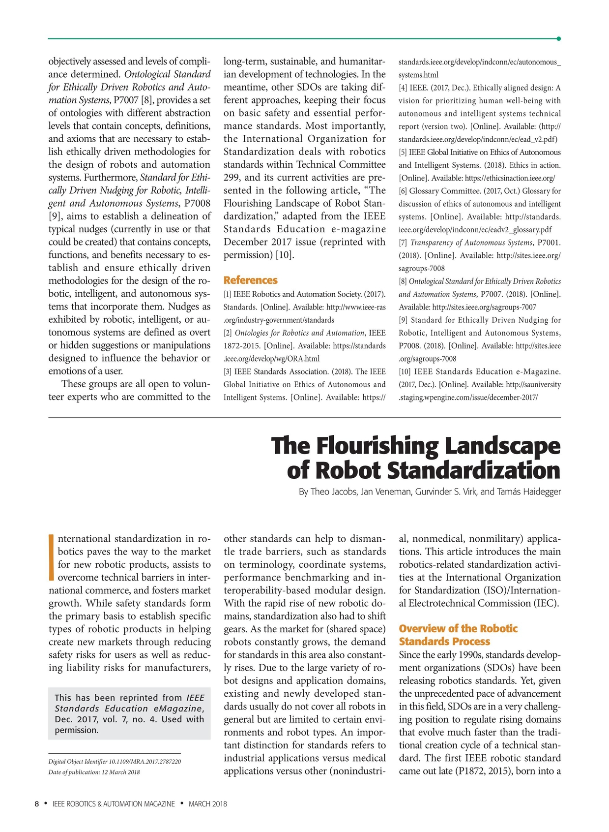 Ieee Robotics Automation Magazine March 2018