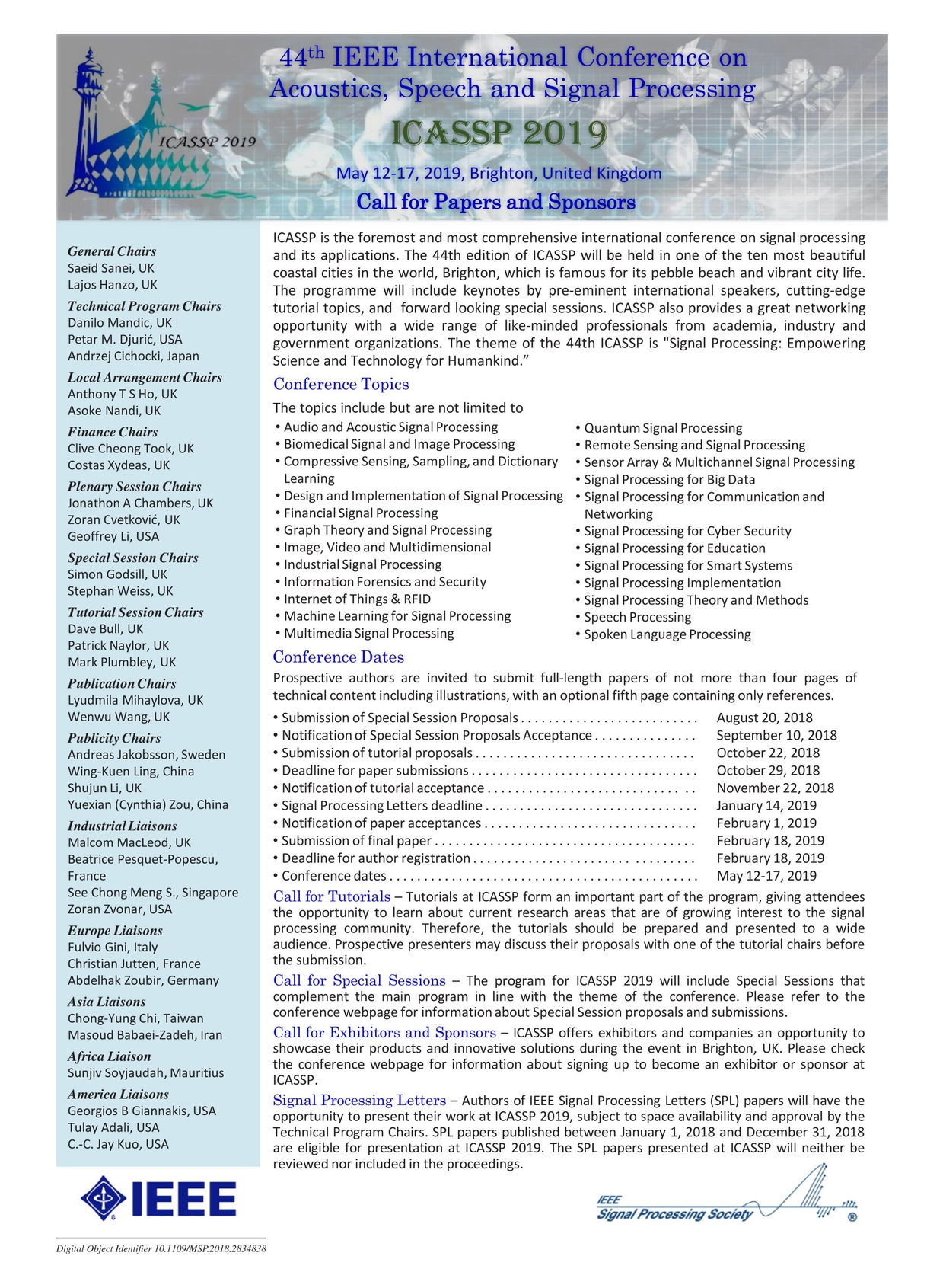IEEE Signal Processing - July 2018