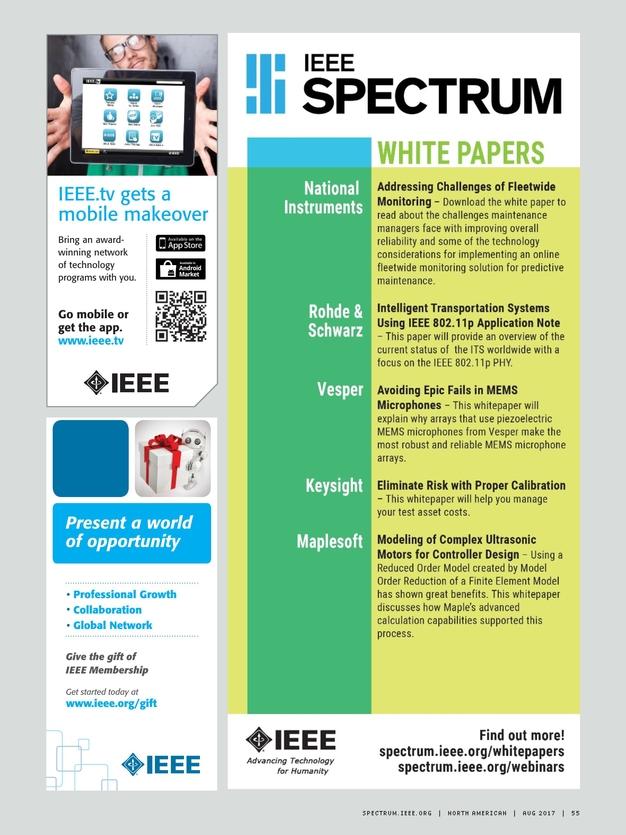 IEEE Spectrum August, 2017