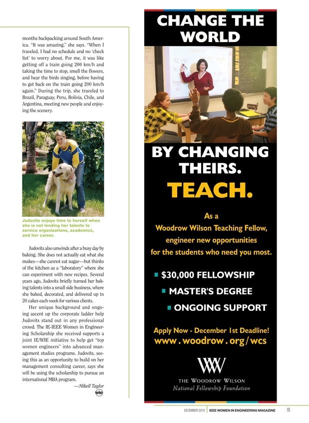 IEEE Women in Engineering Magazine - December 2010