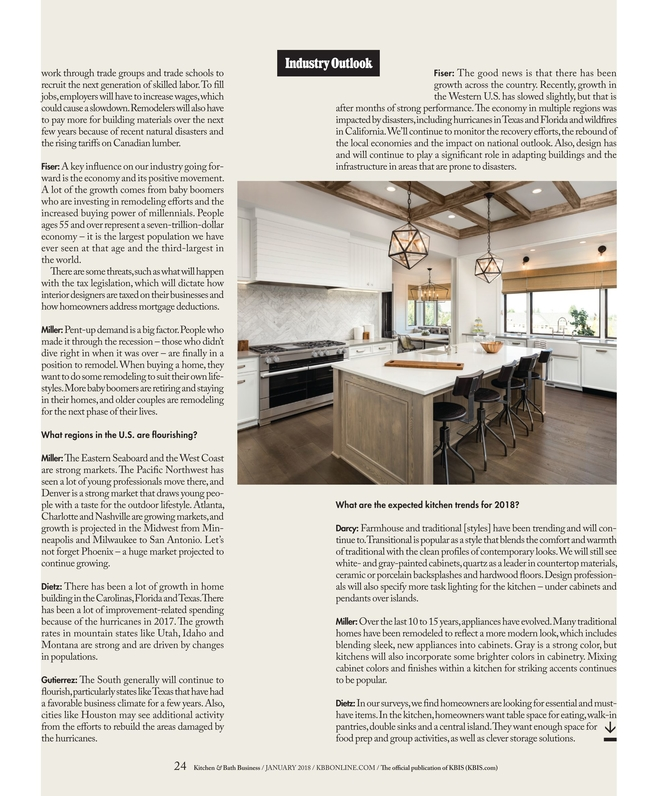 Fine Kitchen Bath Business January 2018 Home Interior And Landscaping Mentranervesignezvosmurscom
