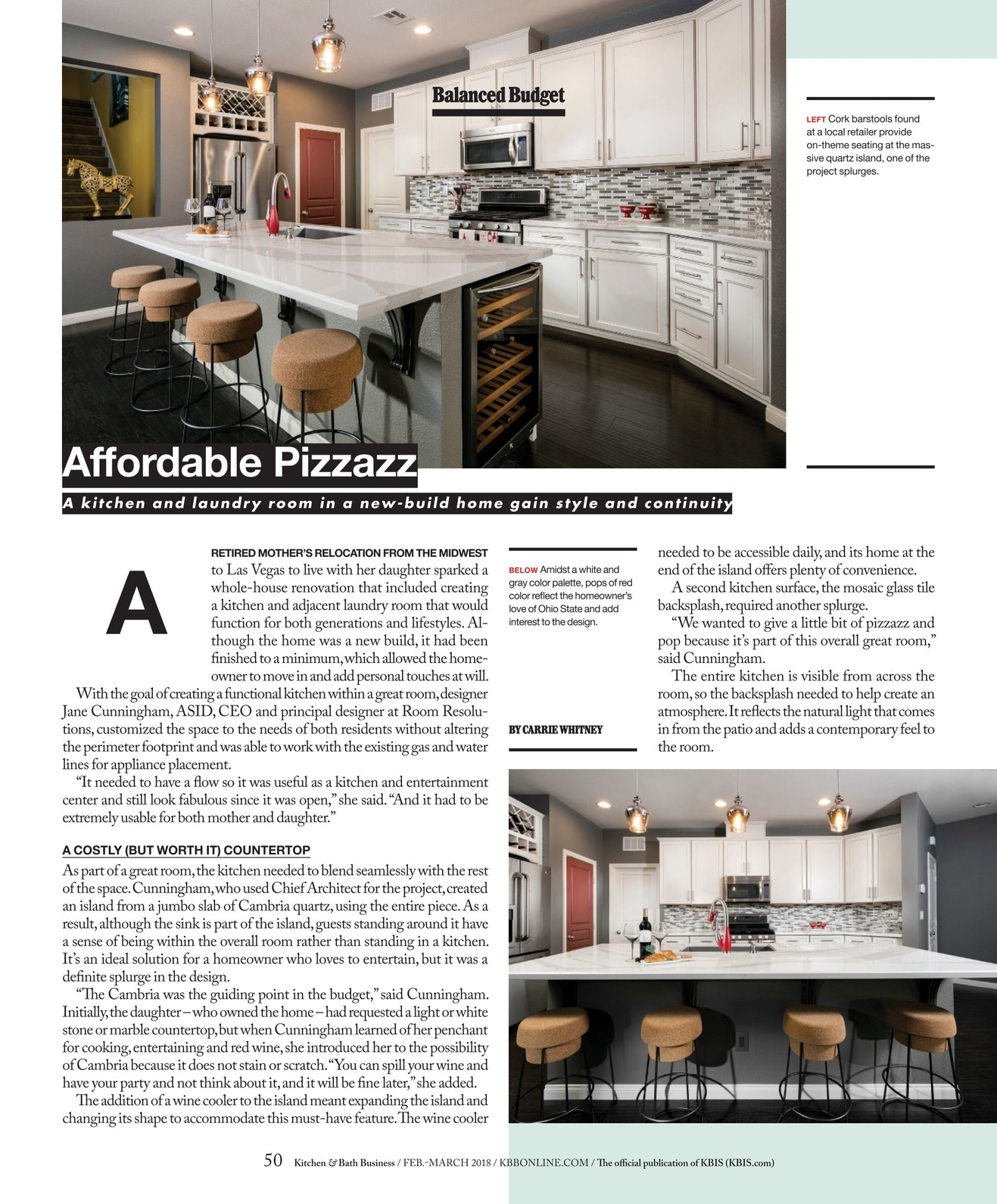 Fabulous Kitchen Bath Business February March 2018 Interior Design Ideas Inamawefileorg